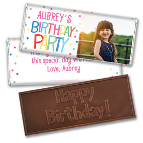 Personalized Bonnie Marcus Birthday Sweet Celebration Embossed Chocolate Bars