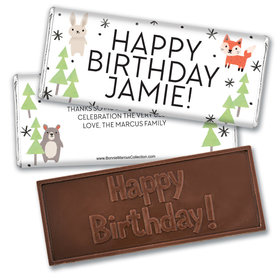 Personalized Bonnie Marcus Birthday Scouting Pals Embossed Chocolate Bars