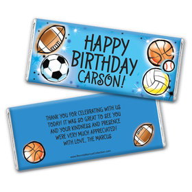 Personalized Bonnie Marcus Birthday Airbrush Athletics Chocolate Bars