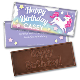 Personalized Bonnie Marcus Birthday Unicorn Dreams Embossed Chocolate Bars