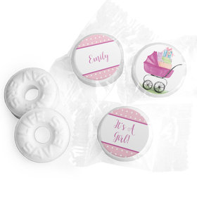 Bonnie Marcus Collection Rockabye Baby Girl Stickers Personalized Life Savers