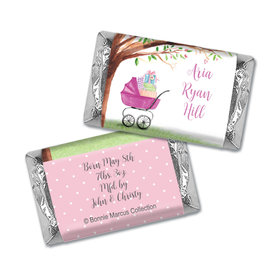 Bonnie Marcus Collection Mini Candy Bar Wrapper Rockabye Baby Girl Birth Announcement