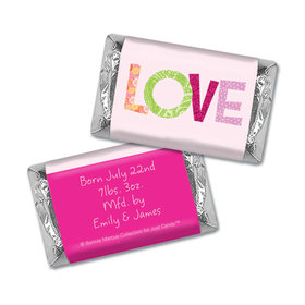 Bonnie Marcus Collection Personalized Hershey's Miniature Love Girl Birth Announcement