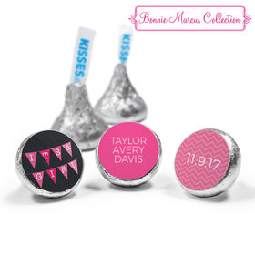 Bonnie Marcus Collection Personalized Hershey's Kisses Candy It's a Girl Banner Birth Announcement (50 Pack)
