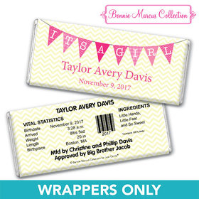 Bonnie Marcus Collection Personalized Wrapper It's a Girl Chevron Birth Announcement