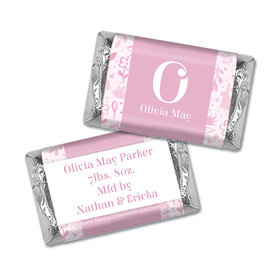 Bonnie Marcus Collection Personalized Hershey's Miniature Pink Animal Birth Announcement