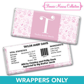 Bonnie Marcus Collection Personalized Wrapper Pink Animal Birth Announcement