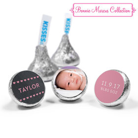 Bonnie Marcus Collection Personalized Photo Hershey's Kisses Candy Hearts Birth Announcement (50 Pack)