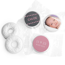 Bonnie Marcus Collection Personalized Photo LIFE SAVERS Mints Hearts Birth Announcement