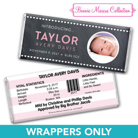 Bonnie Marcus Collection Personalized Wrapper Hearts Birth Announcement