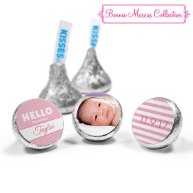 Bonnie Marcus Collection Personalized Hershey's Kisses Candy Name Tag Girl Birth Announcement (50 Pack)