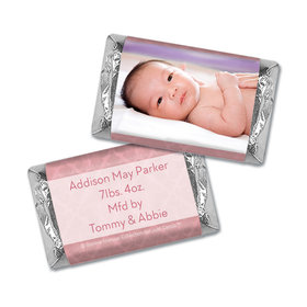 Bonnie Marcus Collection Personalized Hershey's Miniatures Wrappers Baby Photo Birth Announcement