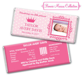 Bonnie Marcus Collection Personalized Polka Dots & Crown Girl Birth Announcement