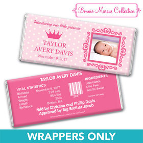 Bonnie Marcus Collection Personalized Wrapper Polka Dots & Crown Girl Birth Announcement