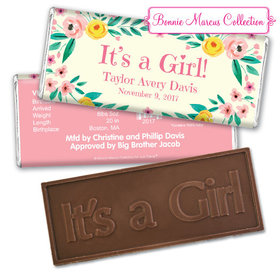 Bonnie Marcus Collection Personalized It's a Girl Flowers Birth Announcement