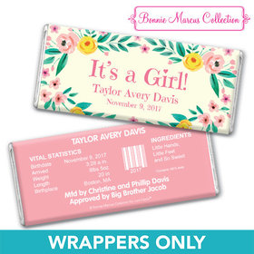 Bonnie Marcus Collection Personalized Wrapper It's a Girl Flowers Birth Announcement
