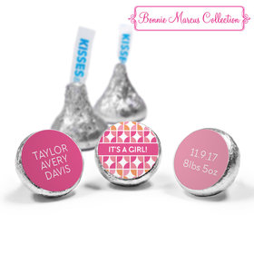 Bonnie Marcus Collection Personalized Hershey's Kisses Candy It's a Girl Hearts Birth Announcement (50 Pack)