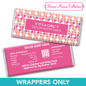 Bonnie Marcus Collection Personalized Wrapper It's a Girl Hearts Birth Announcement