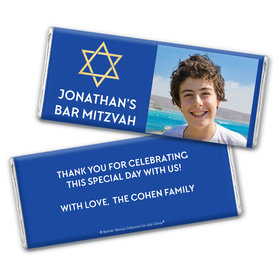 Bar Mitzvah Personalized Chocolate Bar Traditional Star