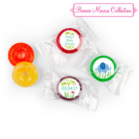 Bonnie Marcus Safari Snuggles Baby Shower Stickers - Custom LifeSavers 5 Flavor Hard Candy (300 Pack)