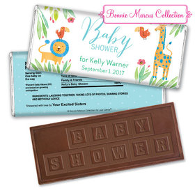 Bonnie Marcus Collection Personalized Embossed Chocolate Bar Personalized Baby Shower Candy Safari Snuggles