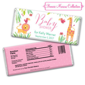 Bonnie Marcus Collection Personalized Chocolate Bar Personalized Baby Shower Candy Safari Snuggles