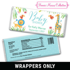 Bonnie Marcus Collection Personalized Chocolate Bar Wrappers Personalized Baby Shower Candy Safari Snuggles