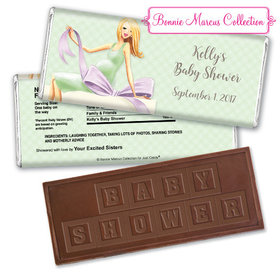 Bonnie Marcus Collection Personalized Embossed Chocolate Bar Personalized Candy Baby Shower Favors Baby Bow