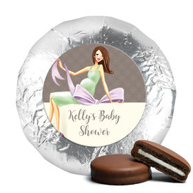 Bonnie Marcus Collection Baby Shower Baby Bow Milk Chocolate Drenched Oreo Cookies Foil Wrapped