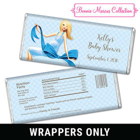 Bonnie Marcus Collection Personalized Chocolate Bar Wrappers Personalized Candy Baby Shower Favors Baby Bow
