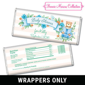 Bonnie Marcus Collection Personalized Chocolate Bar Wrappers Baby Shower Favors Story Time