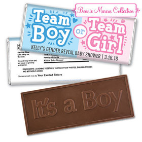 Personalized Bonnie Marcus Gender Reveal Boy or Girl Embossed It's a Boy Chocolate Bar