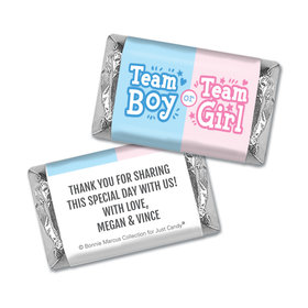 Personalized Bonnie Marcus Gender Reveal Boy or Girl Mini Wrappers Only