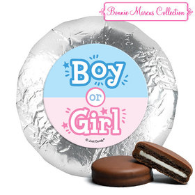 Personalized Bonnie Marcus Gender Reveal Boy or Girl Chocolate Covered Oreos (24 Pack)