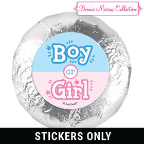 "Personalized Bonnie Marcus Gender Reveal Boy or Girl 1.25"" Stickers (48 Stickers)"