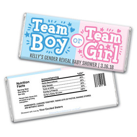 Personalized Bonnie Marcus Gender Reveal Boy or Girl Chocolate Bar & Wrapper
