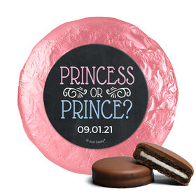 Personalized Bonnie Marcus Gender Reveal Princess or Prince Chocolate Covered Oreos (24 Pack)