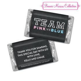 Personalized Bonnie Marcus Gender Reveal Team Pink vs. Team Blue Hershey's Miniatures