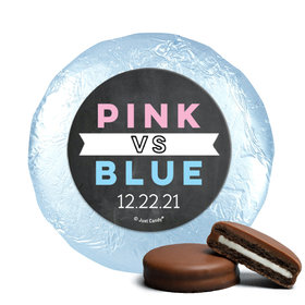 Personalized Bonnie Marcus Gender Reveal Team Pink vs. Team Blue Chocolate Covered Oreos (24 Pack)