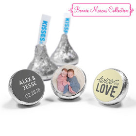 Personalized Bonnie Marcus Birth Announcement Twice the Love Hershey's Kisses (50 Pack)