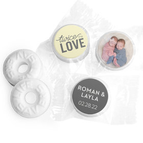 Personalized Bonnie Marcus Birth Announcement Twice the Love Life Savers Mints