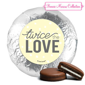 Personalized Bonnie Marcus Birth Announcement Twice the Love Chocolate Covered Oreos (24 Pack)