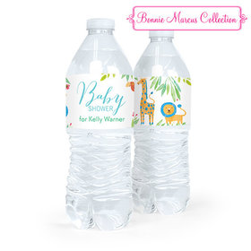 Personalized Baby Shower Safari Snuggles Water Bottle Sticker Labels (5 Labels)