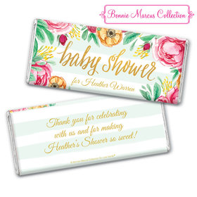 Personalized Bonnie Marcus Baby Shower Stripes Chocolate Bar & Wrapper