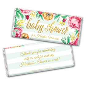 Personalized Bonnie Marcus Baby Shower Stripes Chocolate Bar Wrappers Only
