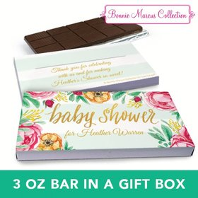 Deluxe Personalized Baby Shower Stripes Chocolate Bar in Gift Box (3oz Bar)