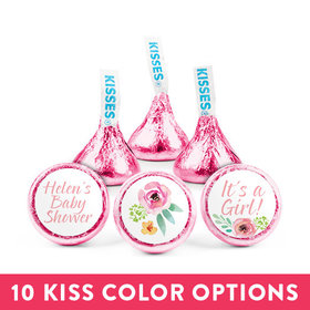 Personalized Bonnie Marcus Baby Shower Pink Blossom Hershey's Kisses (50 pack)