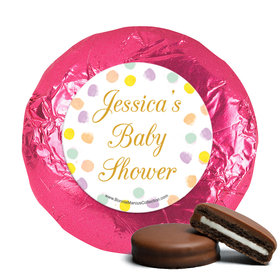 Personalized Bonnie Marcus Confetti Fun Baby Shower Milk Chocolate Covered Oreos (24 Pack)