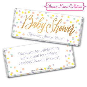 Personalized Bonnie Marcus Baby Shower Confetti Fun Chocolate Bar & Wrapper