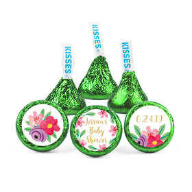 Personalized Bonnie Marcus Baby Shower Watercolor Flowers Hershey's Kisses (50 pack)